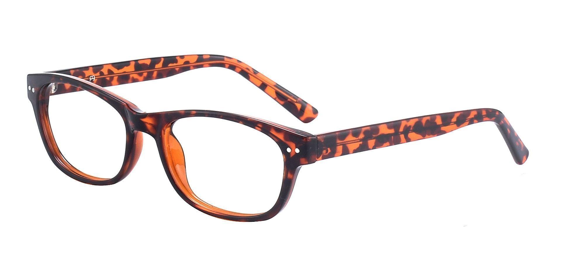 Gulf Rectangle Blue Light Blocking Glasses - Tortoiseshell