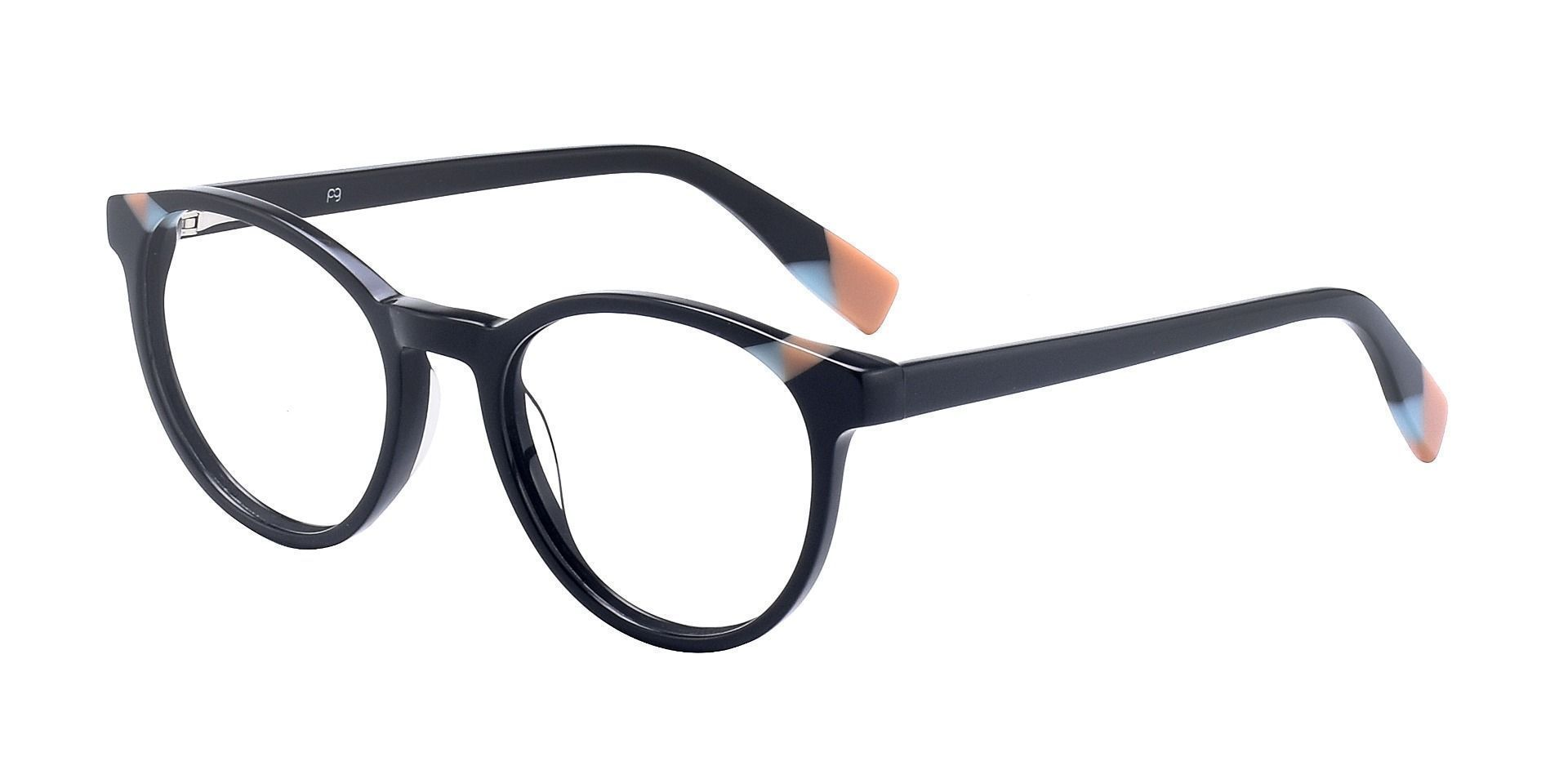 Odette Oval Prescription Glasses - The Frame Is Black And Brown
