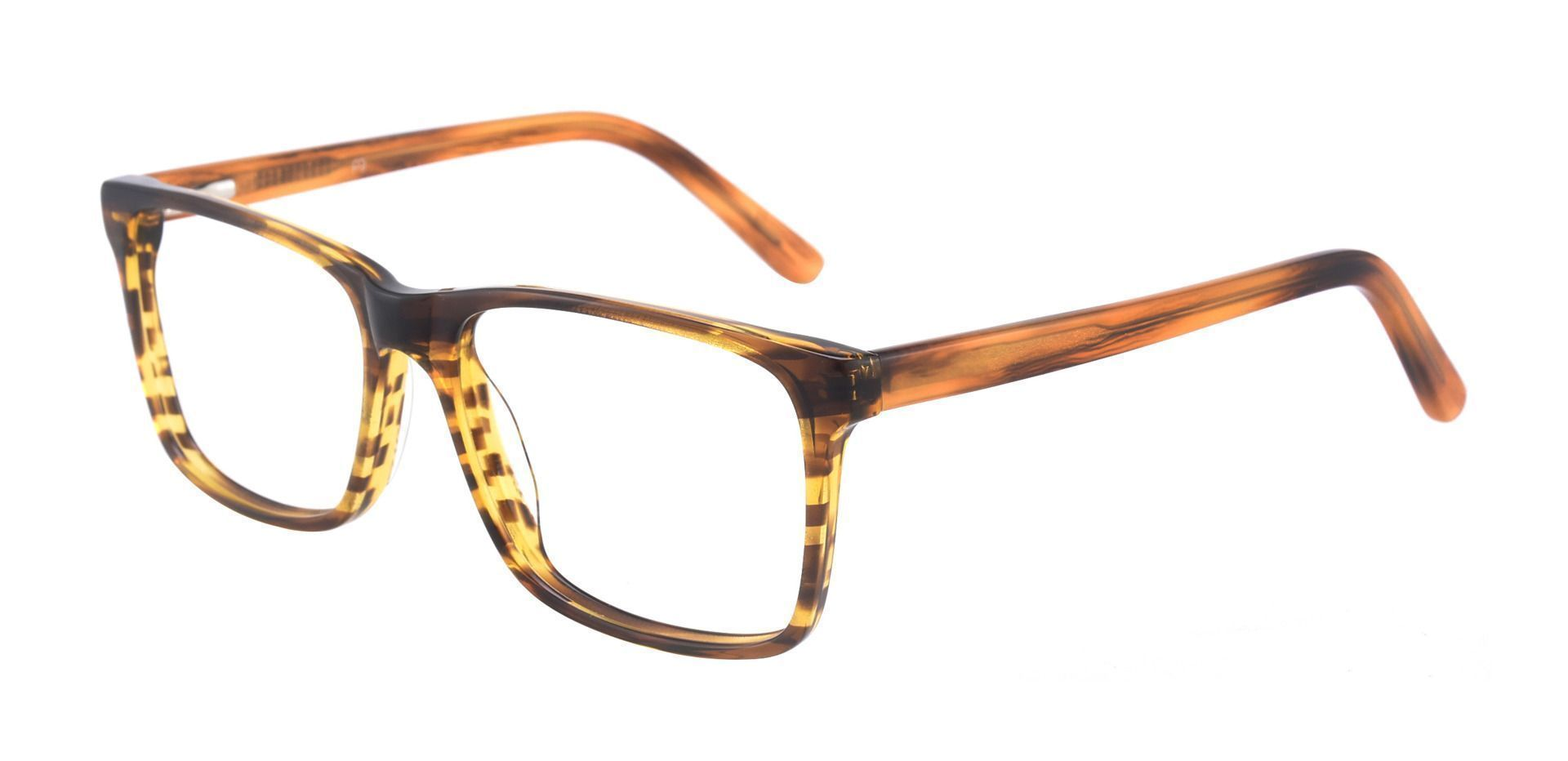 Clifton Rectangle Prescription Glasses - Brown