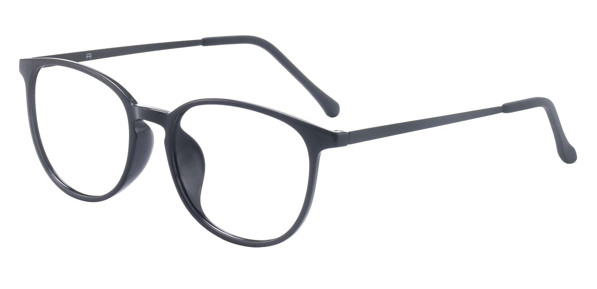 Granite Oval Prescription Glasses - Dark Purple Crystal