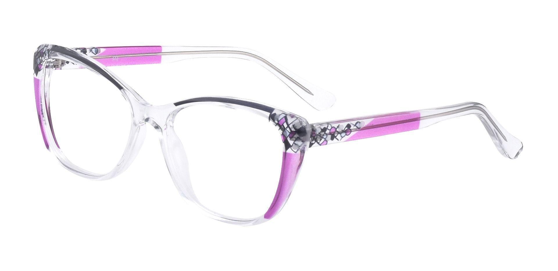 Marina Cat Eye Progressive Glasses - Purple