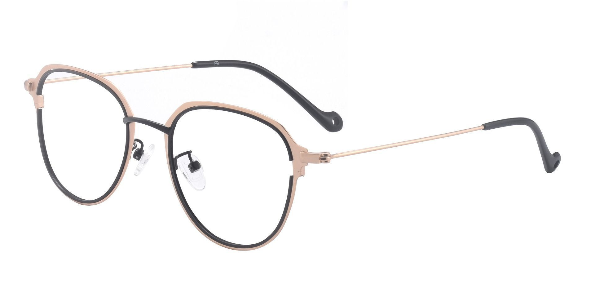 Murray Geometric Prescription Glasses - The Frame Is Black And Yellow