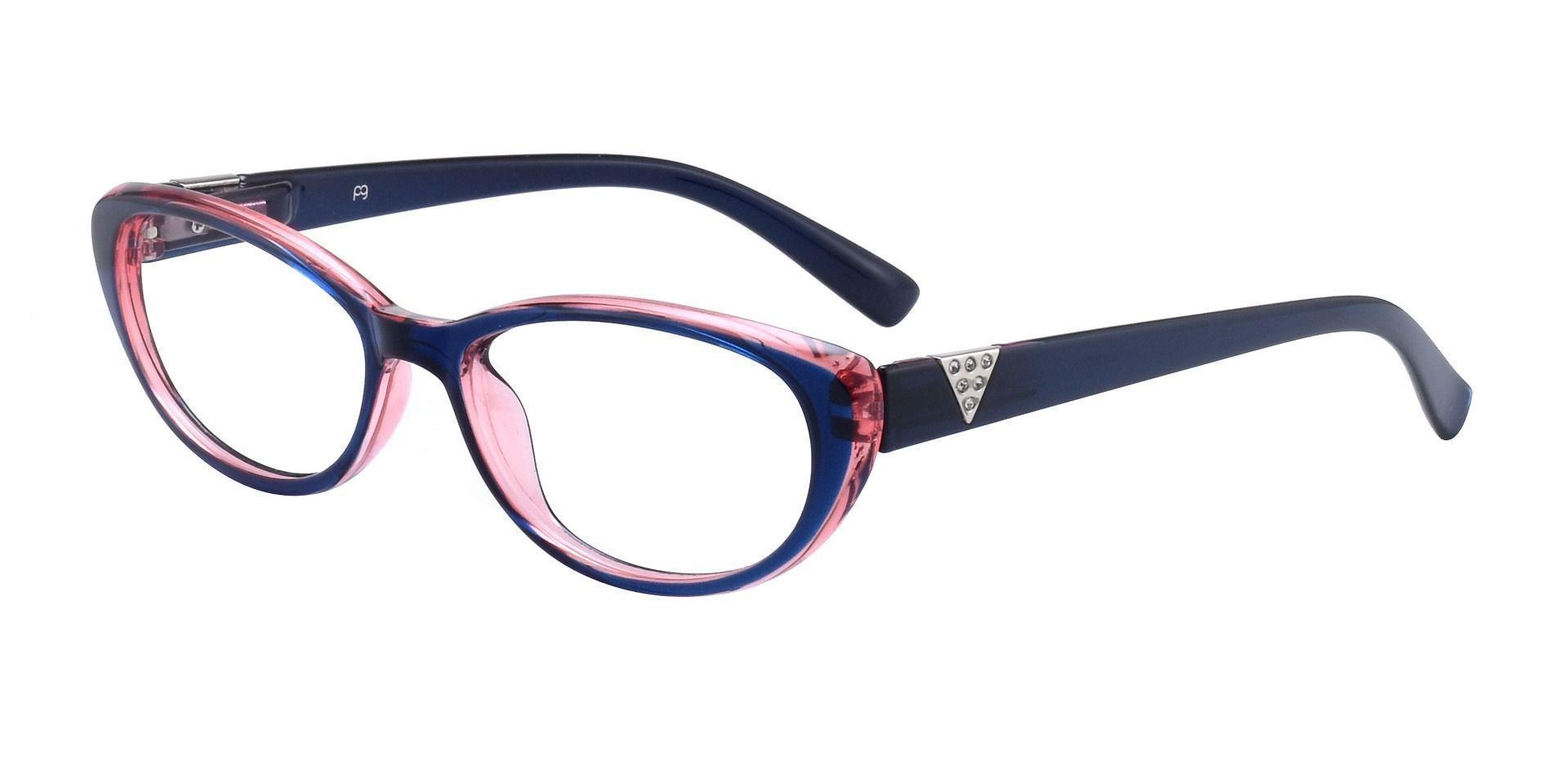 Iona Cat-Eye Prescription Glasses - Blue