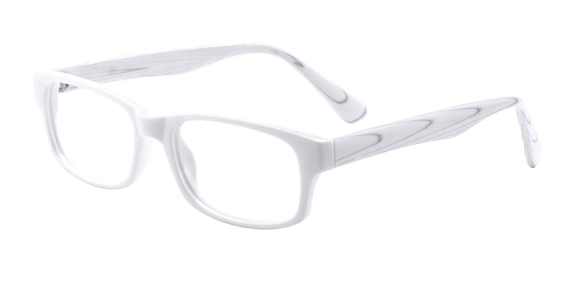 Janel Rectangle Prescription Glasses - White