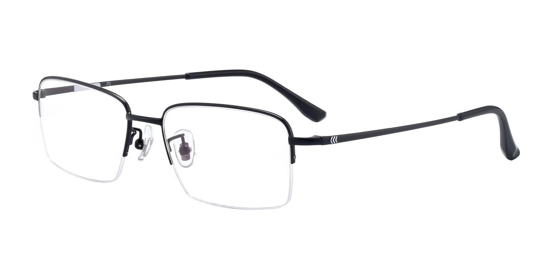 Welty Rectangle Prescription Glasses - Black