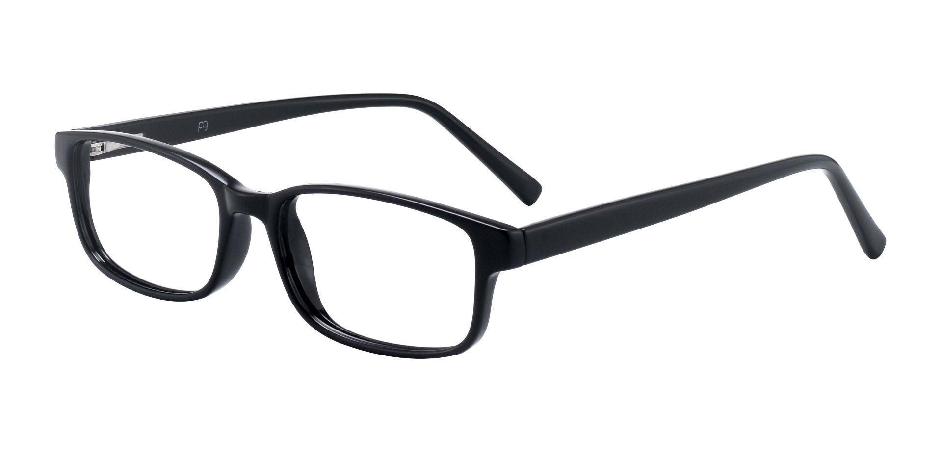 Layton Rectangle Prescription Glasses - Shiny Black