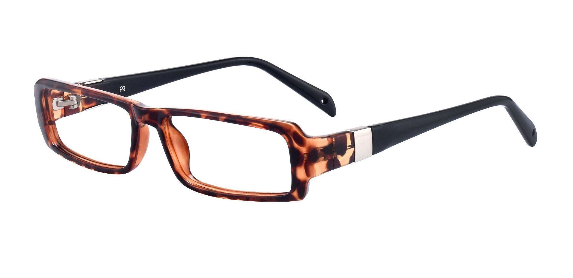 Teigen Rectangle Single Vision Glasses - Tortoiseshell