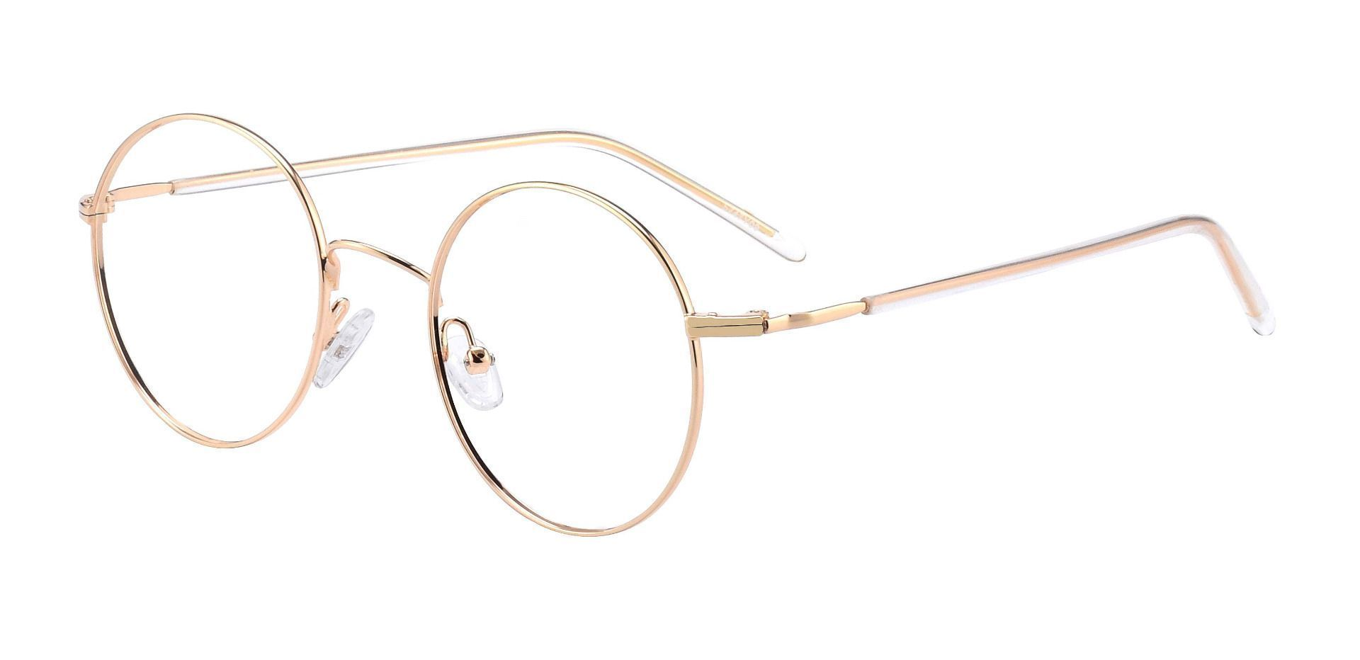 Plum Round Prescription Glasses - Yellow