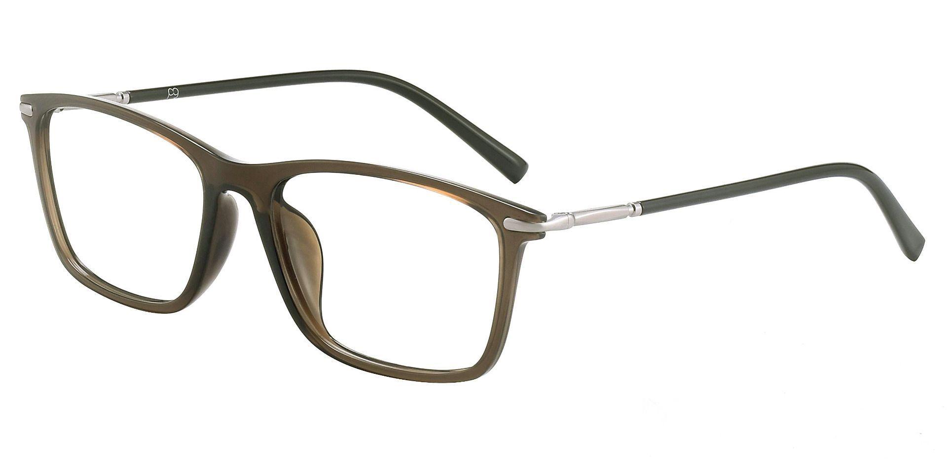 Gatsby Rectangle Prescription Glasses - Brown