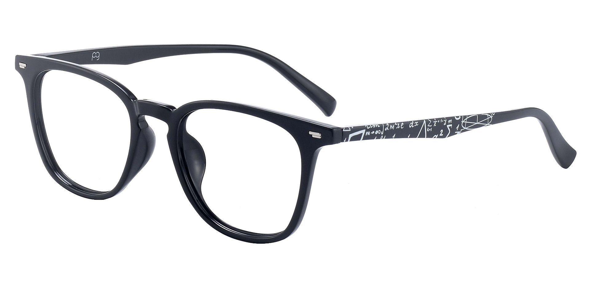 Wharton Square Prescription Glasses - Black