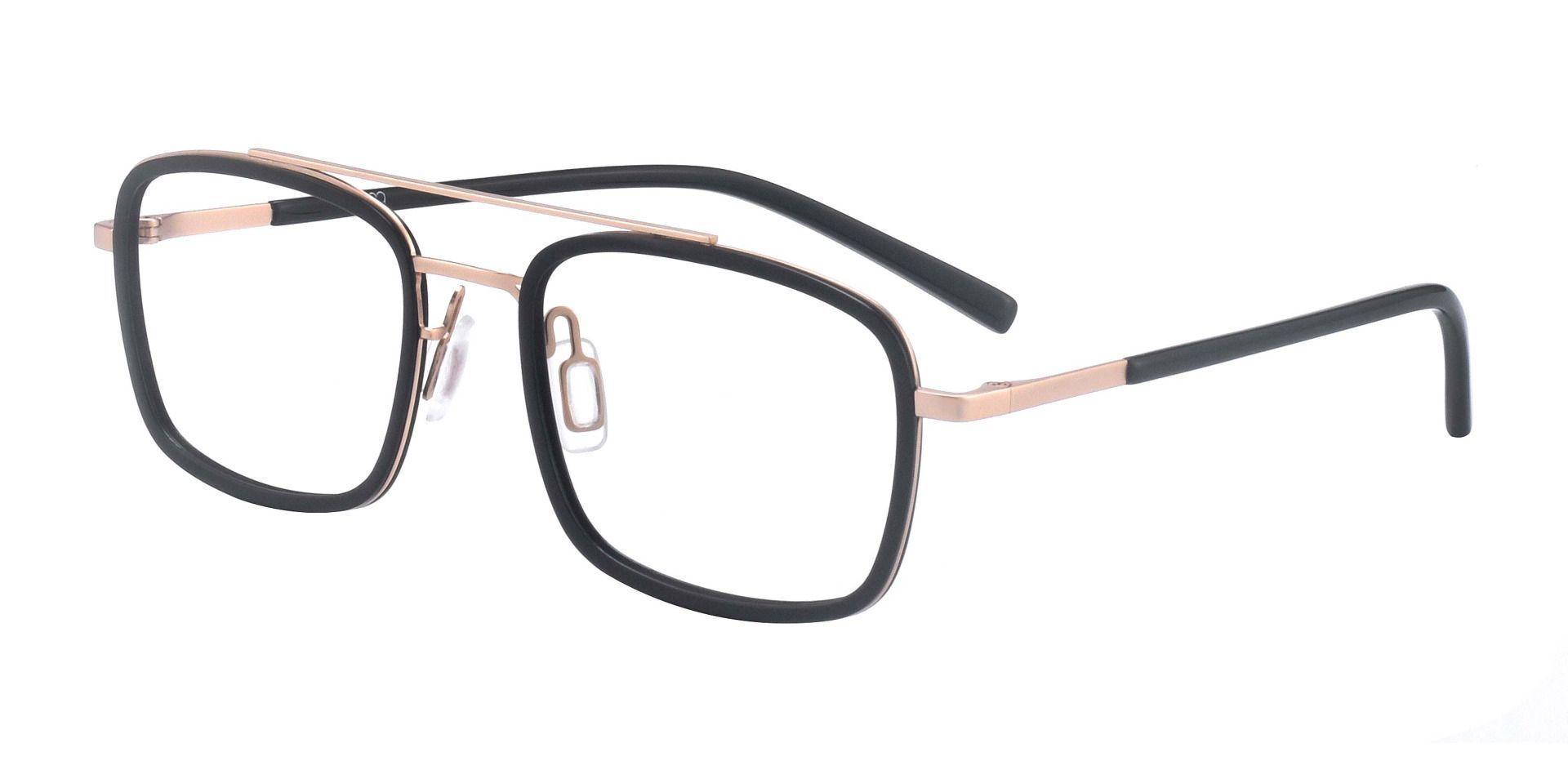 Margot Aviator Prescription Glasses - Black/brushed Light Gold