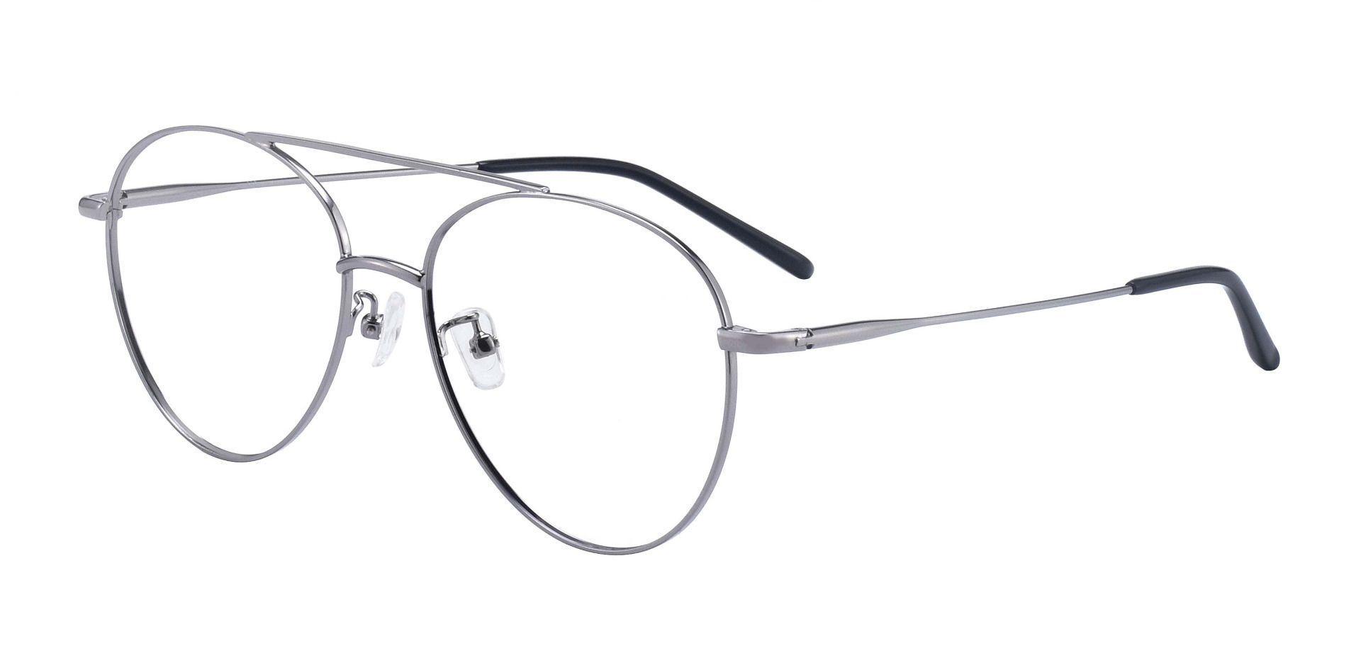 Hopper Aviator Prescription Glasses - Gunmetal