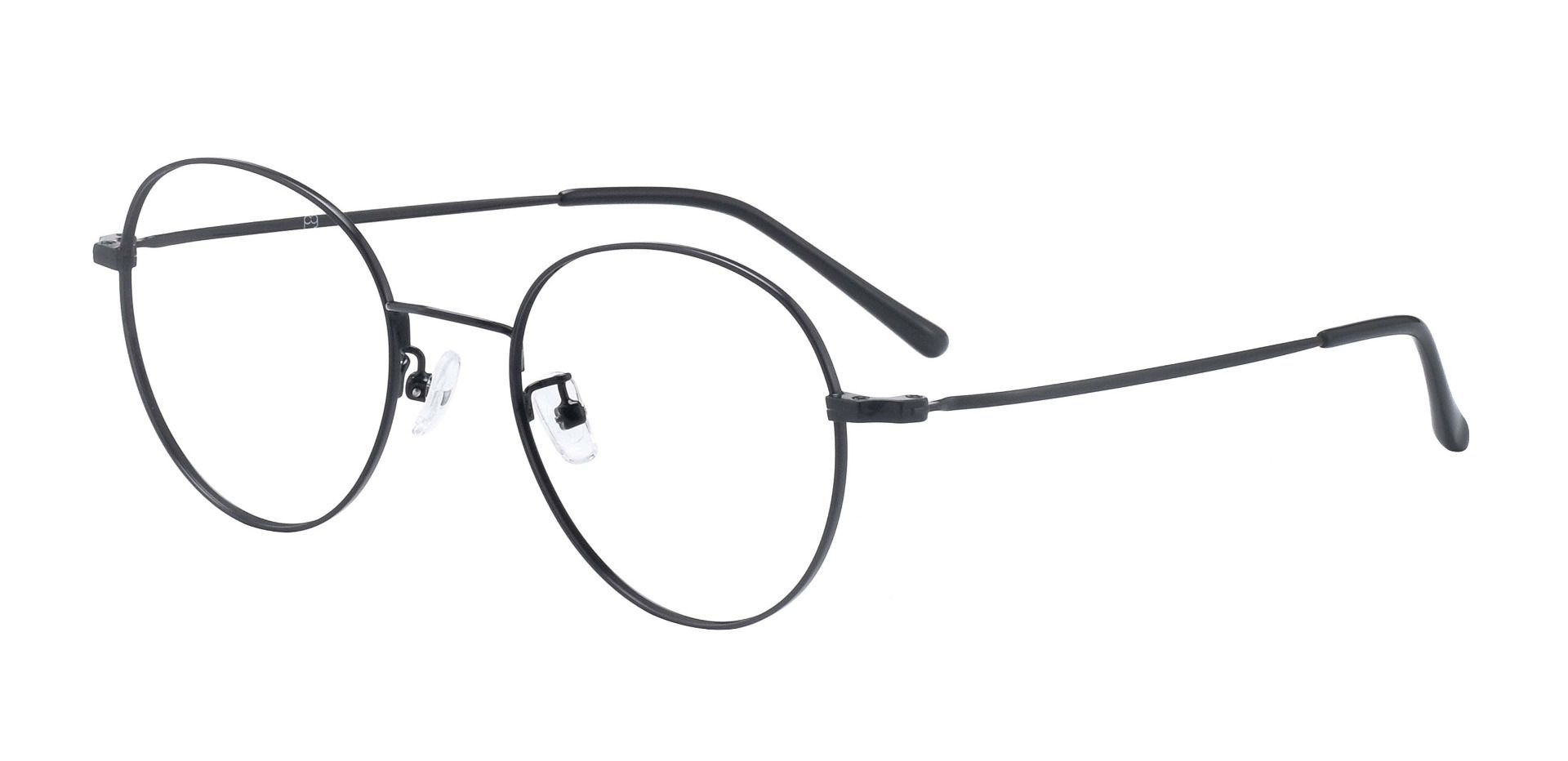 Spade Round Prescription Glasses - Black