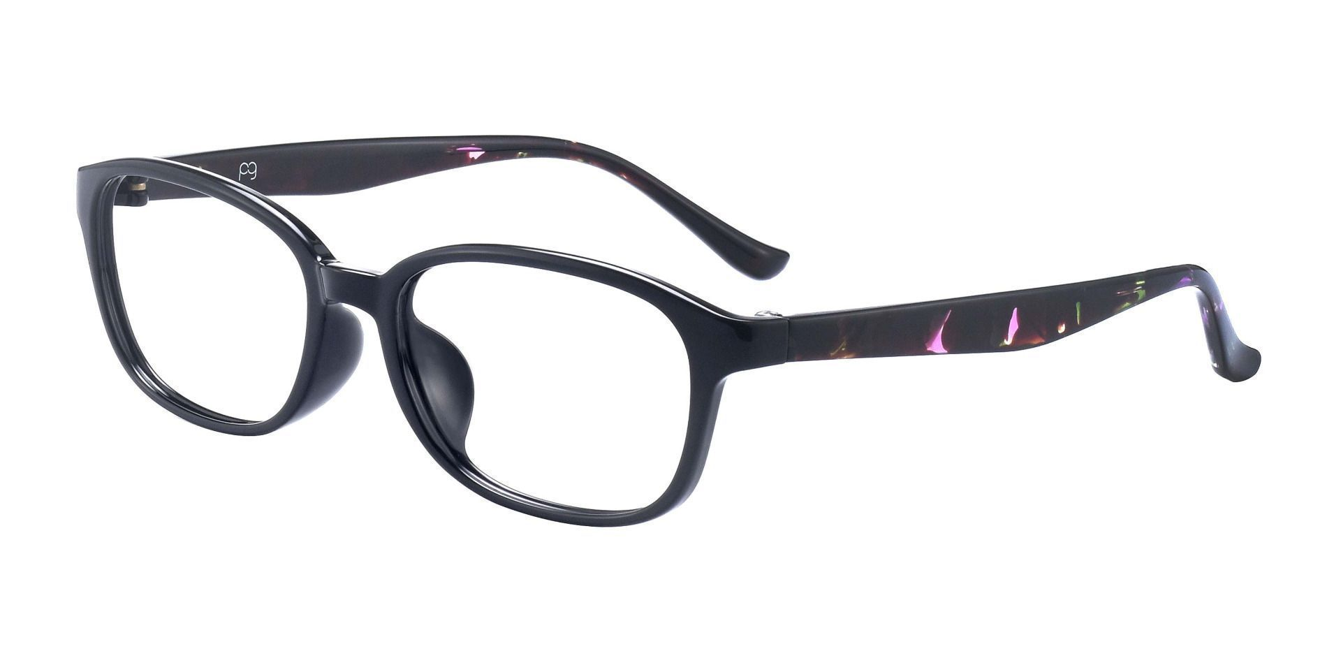 Hemingway Oval Prescription Glasses - Black