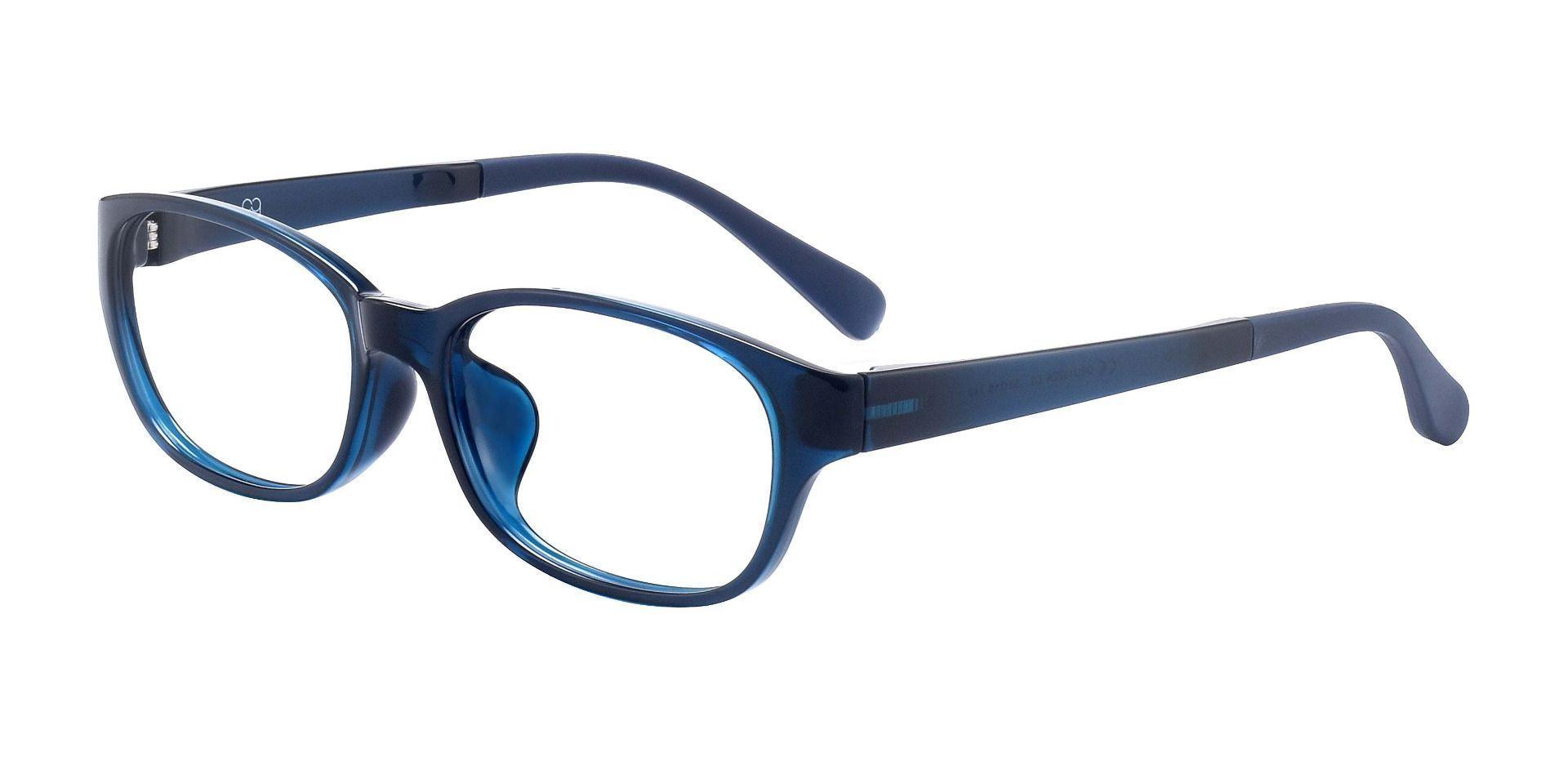 Alto Oval Prescription Glasses - Blue