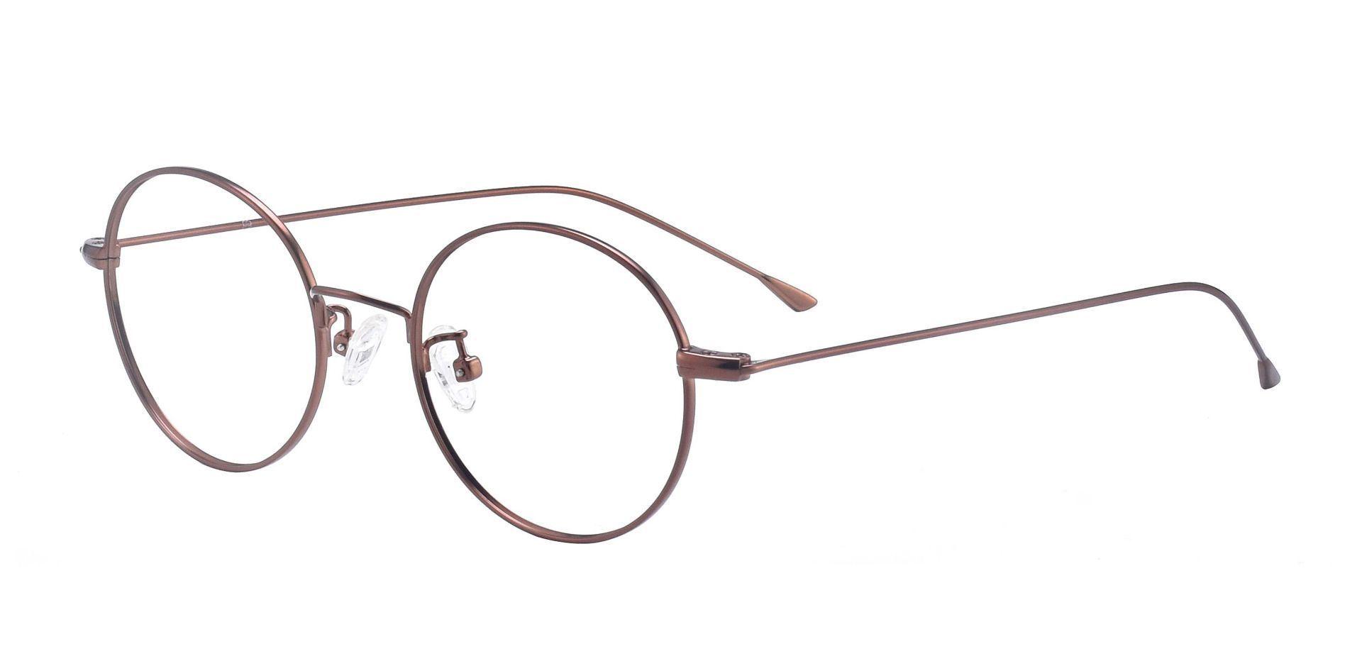 Hammond Oval Prescription Glasses -  Copper