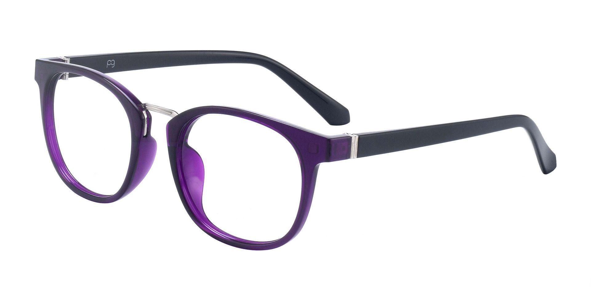 Amani Oval Prescription Glasses - Purple