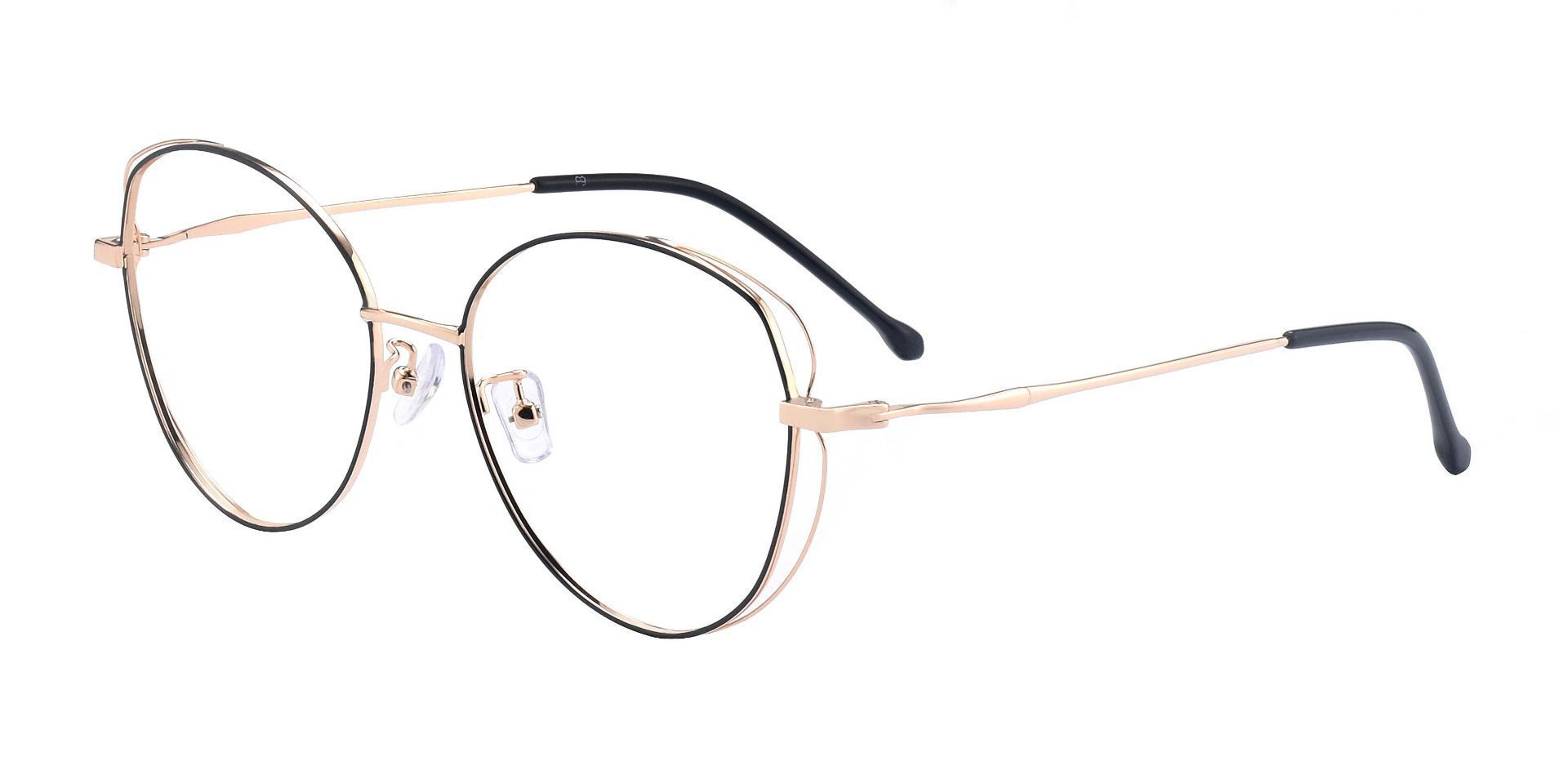 Mantle Geometric Prescription Glasses - Black /rose Gold