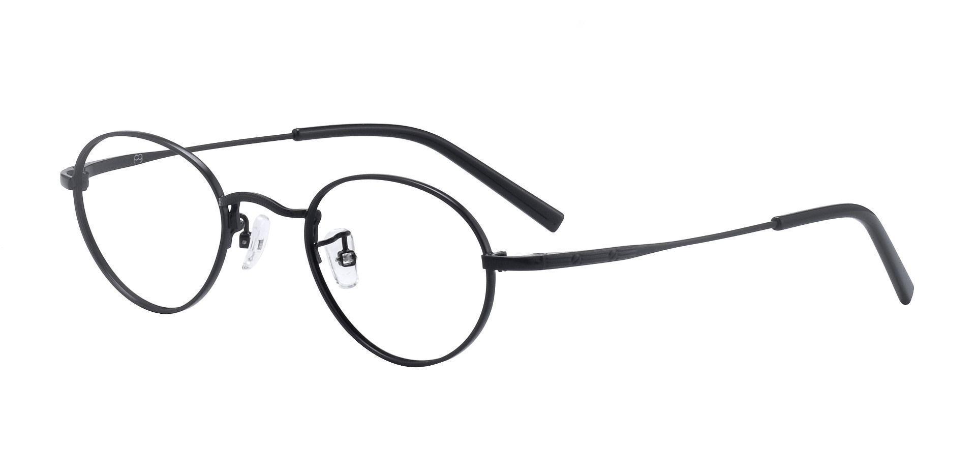 Bishop Oval Prescription Glasses - Black