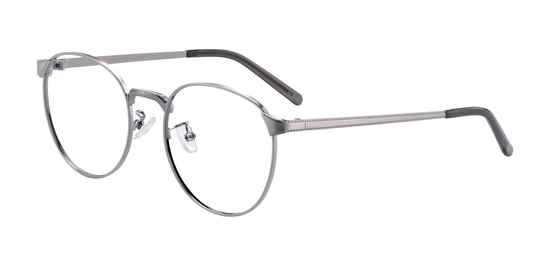 Xander Round Prescription Glasses - Matte Silver