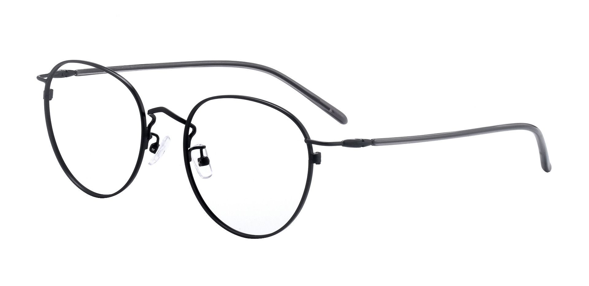 Ortiz Oval Prescription Glasses - Black