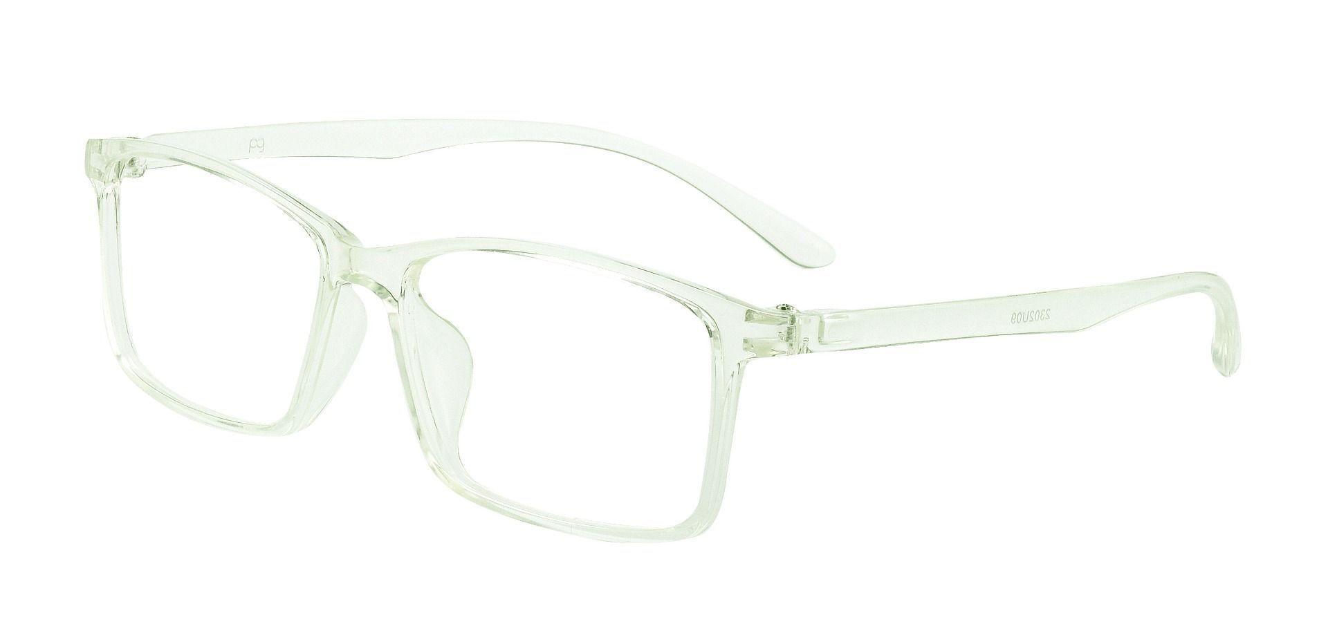 Horizon Rectangle Prescription Glasses - Crystal To Blue