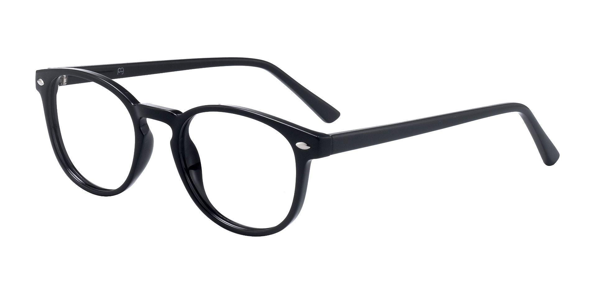 Maestro Oval Prescription Glasses - Shiny Black