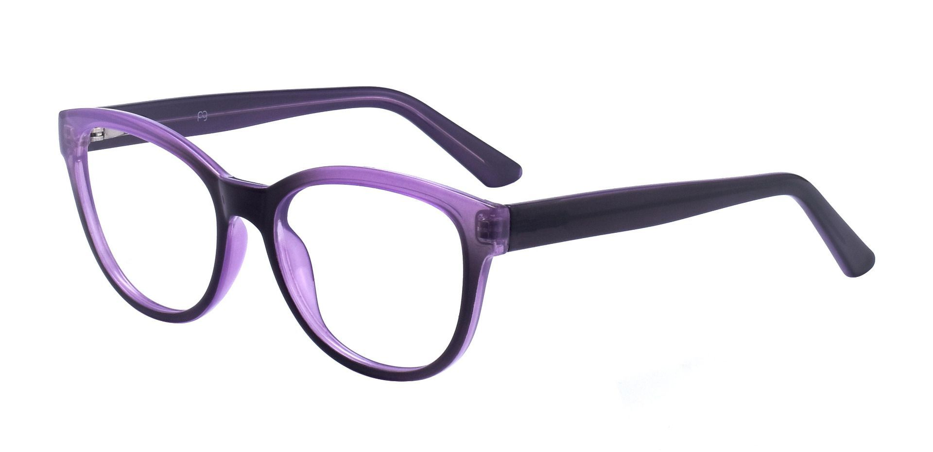 Primrose Oval Progressive Glasses - Purple