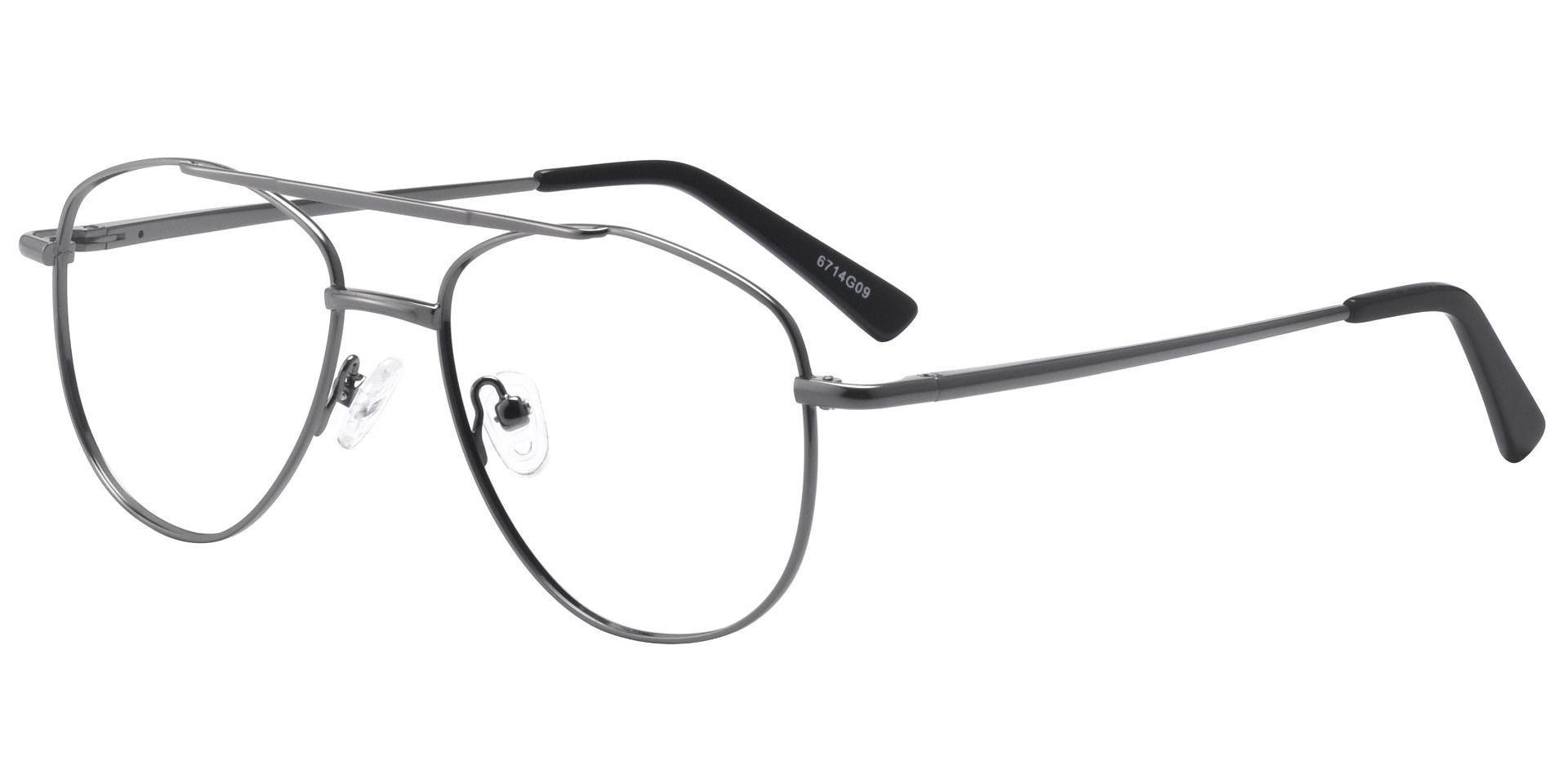 Dwight Aviator Single Vision Glasses - Gray