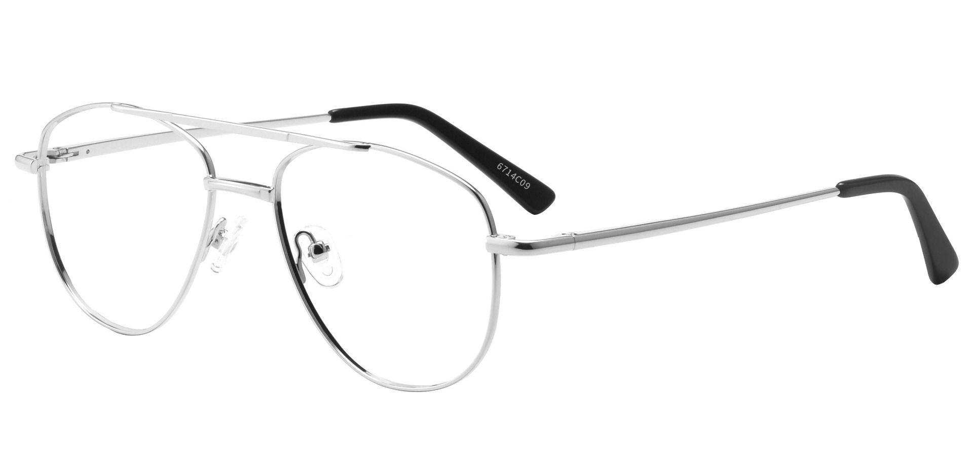 Dwight Aviator Prescription Glasses - White