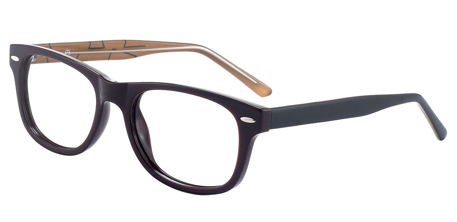 Milton Classic Square Prescription Glasses - The Frame Is Black And Brown