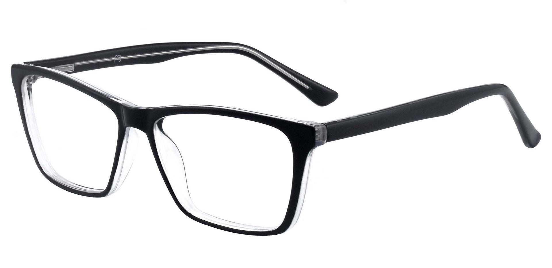 Dawson Rectangle Prescription Glasses - Black