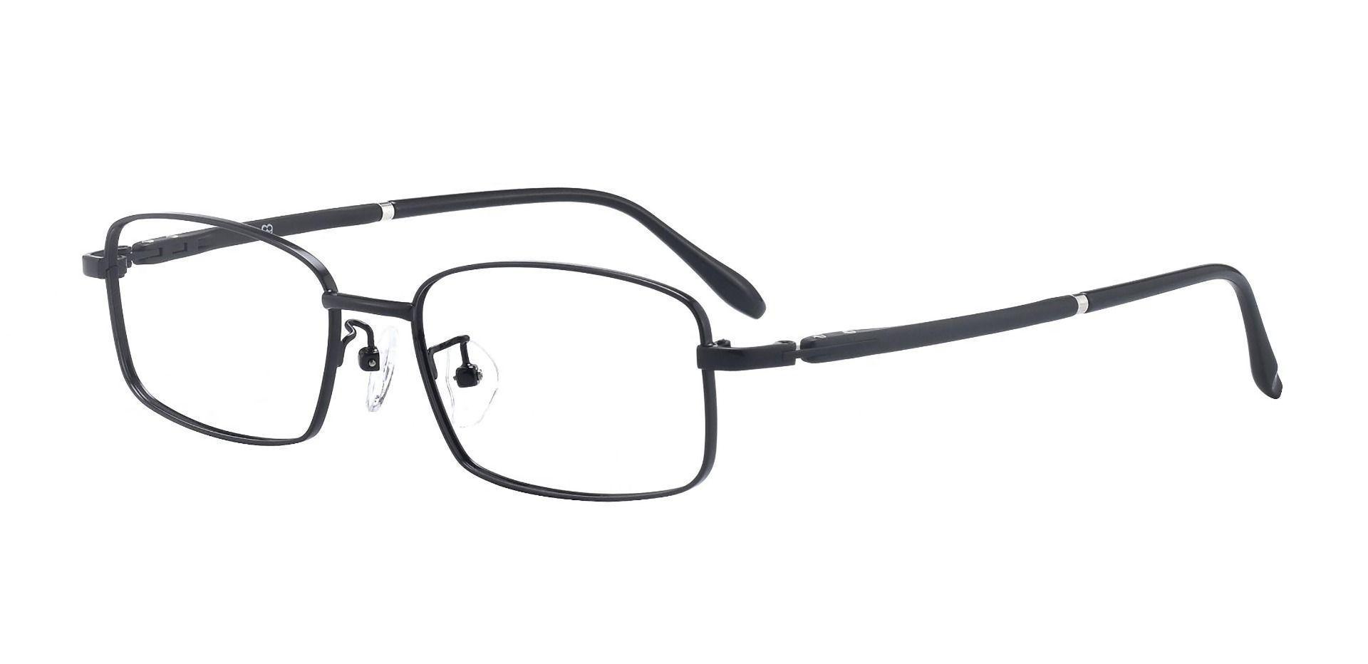 Press Rectangle Prescription Glasses - Black