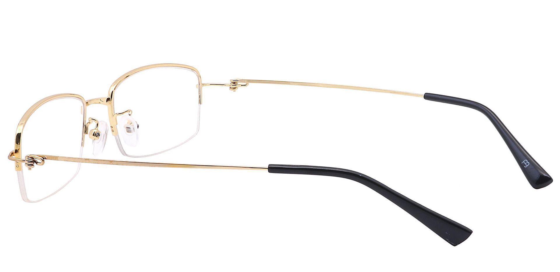 Wyoming Rectangle Prescription Glasses -  Gold