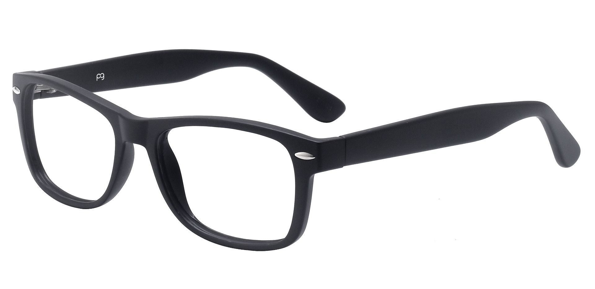 Kent Rectangle Progressive Glasses - Black