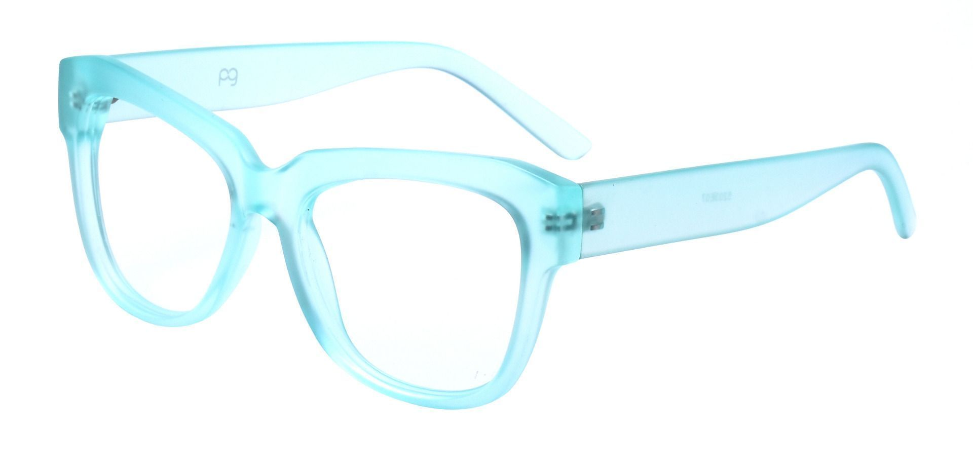 Gina Cat-Eye Eyeglasses Frame - Matte Sea Glass Green Crystal