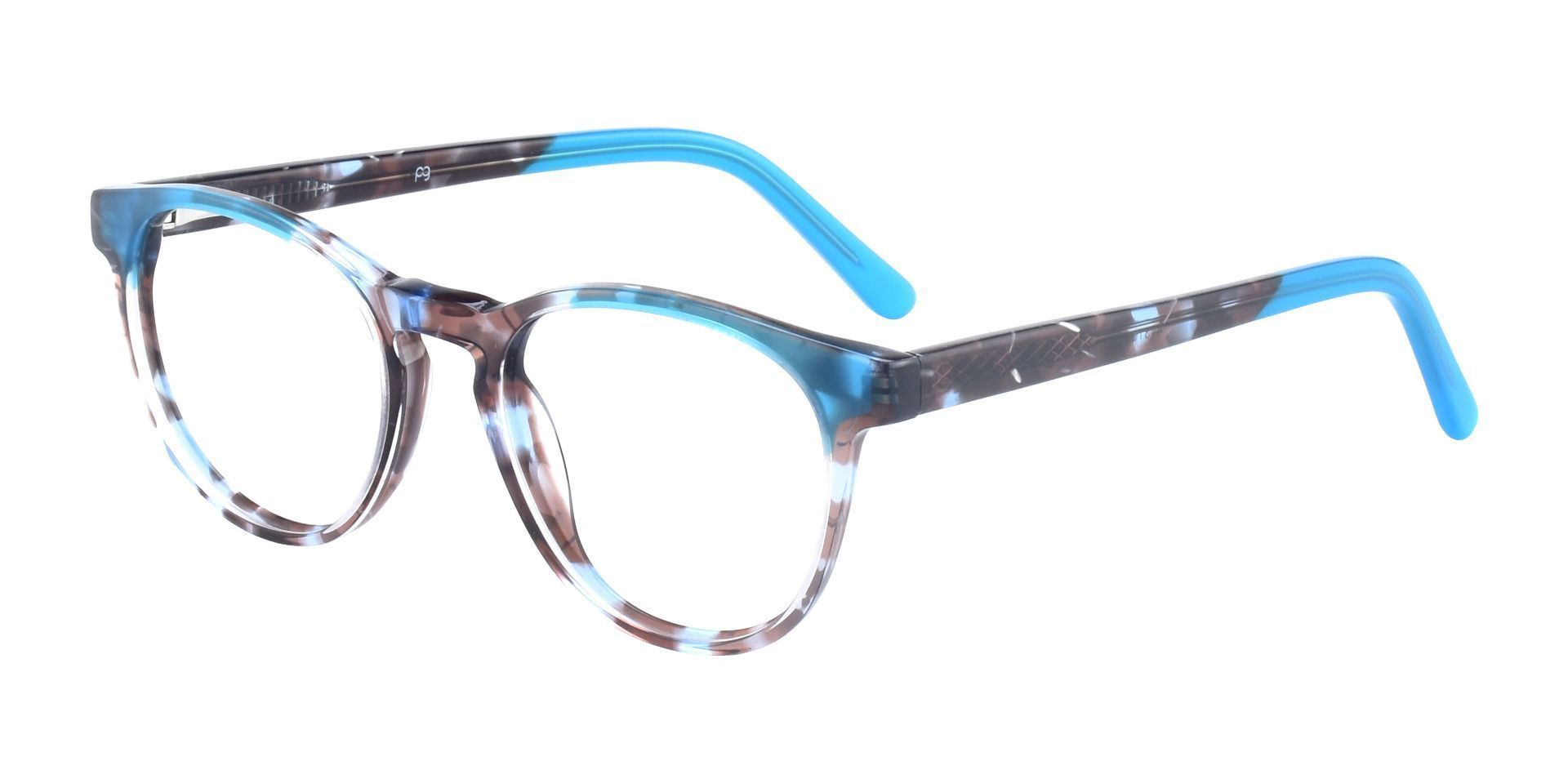 Pepper Oval Prescription Glasses - Blue