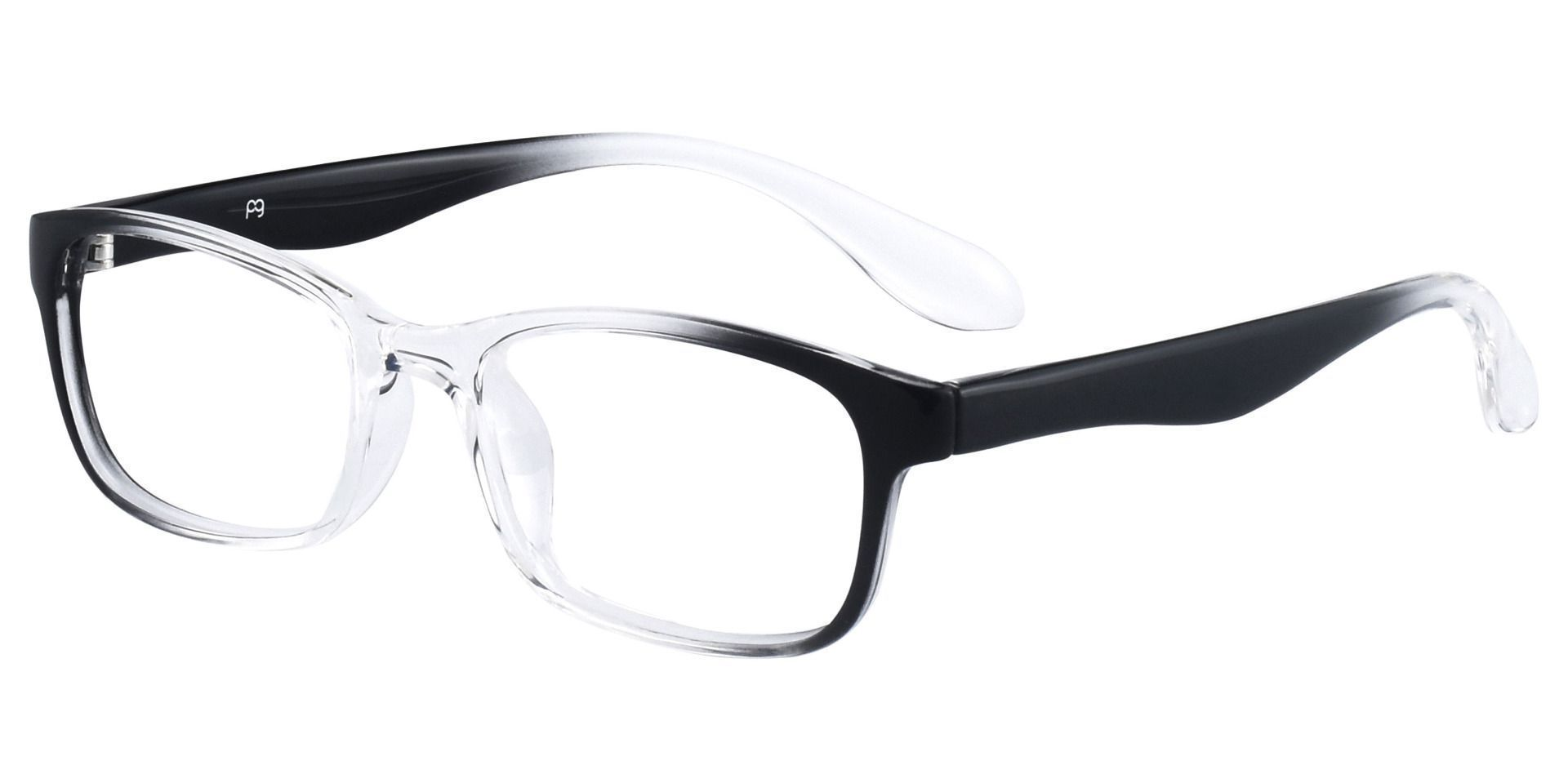 Amos Rectangle Prescription Glasses - Black Crystal Fade