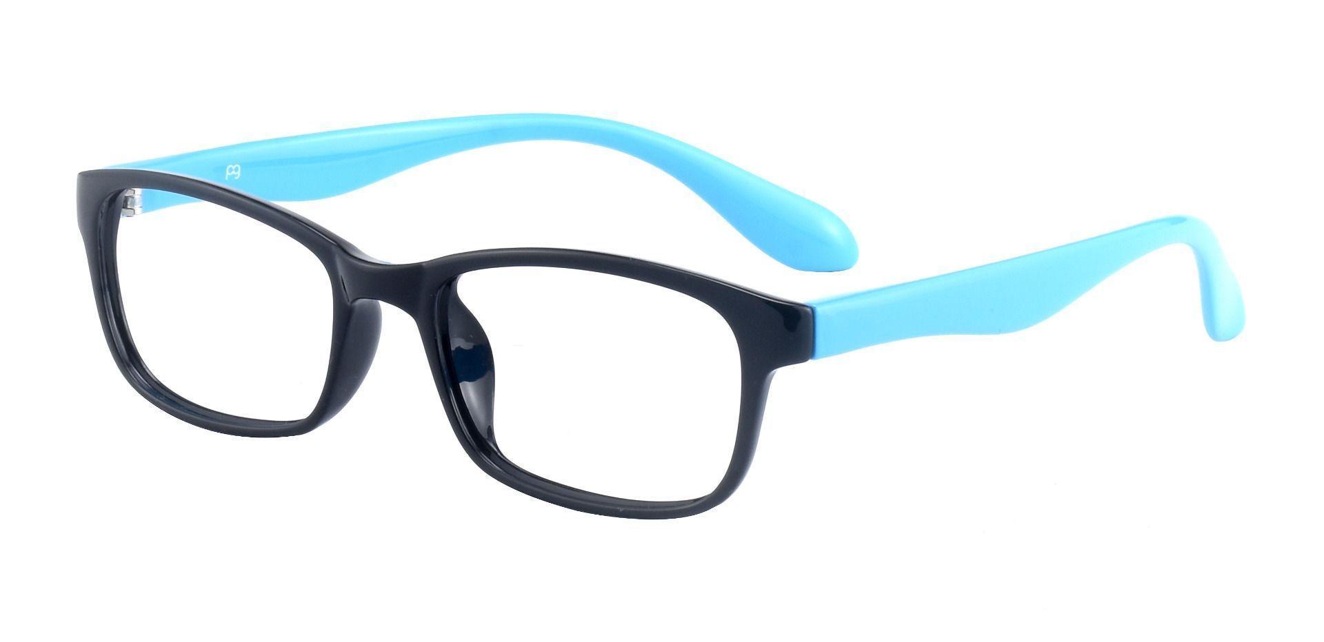 Amos Rectangle Prescription Glasses - Black