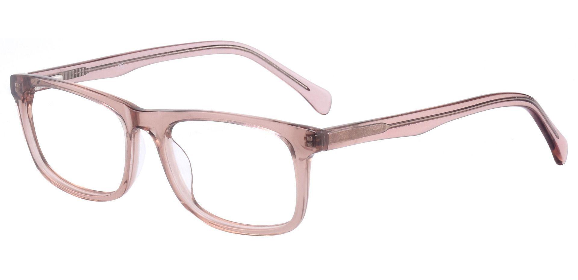 Avril Rectangle Prescription Glasses -  Taupe Crystal