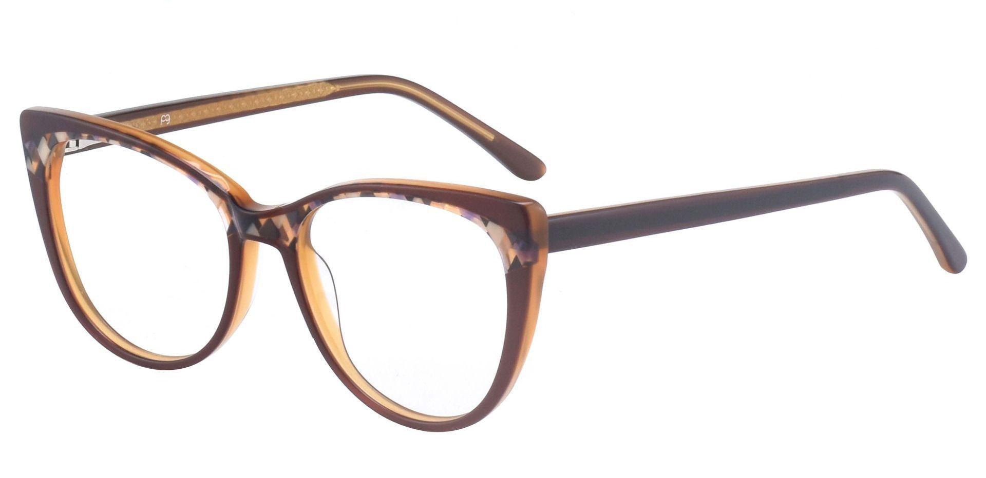 Cabernet Cat Eye Prescription Glasses - Brown