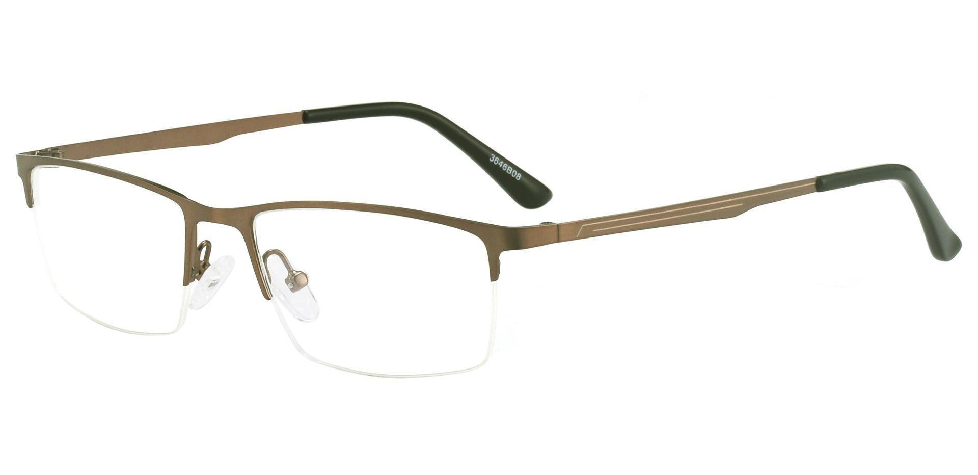 Lombard Rectangle Progressive Glasses - Brown
