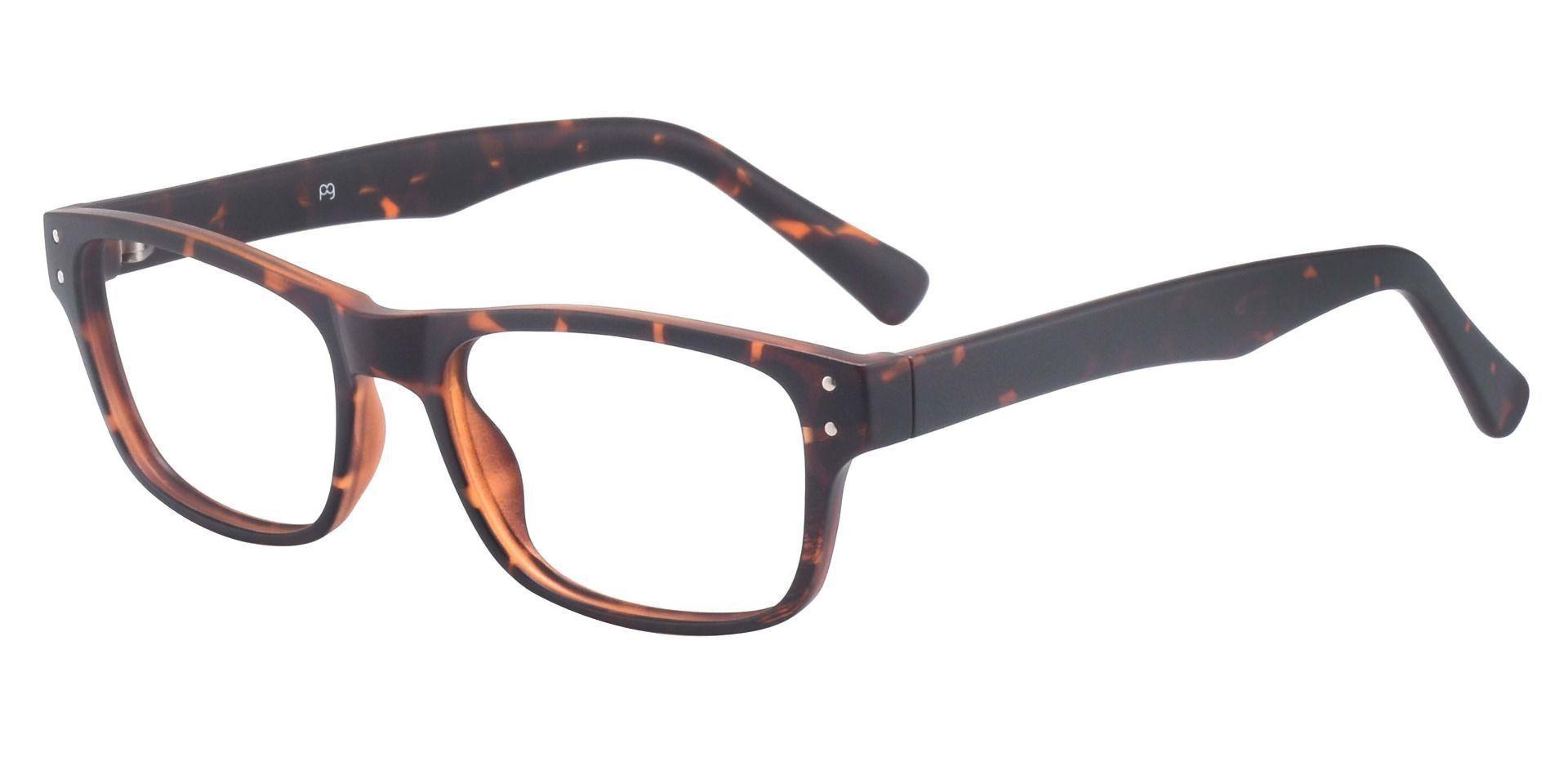 Erie Rectangle Prescription Glasses - Tortoise
