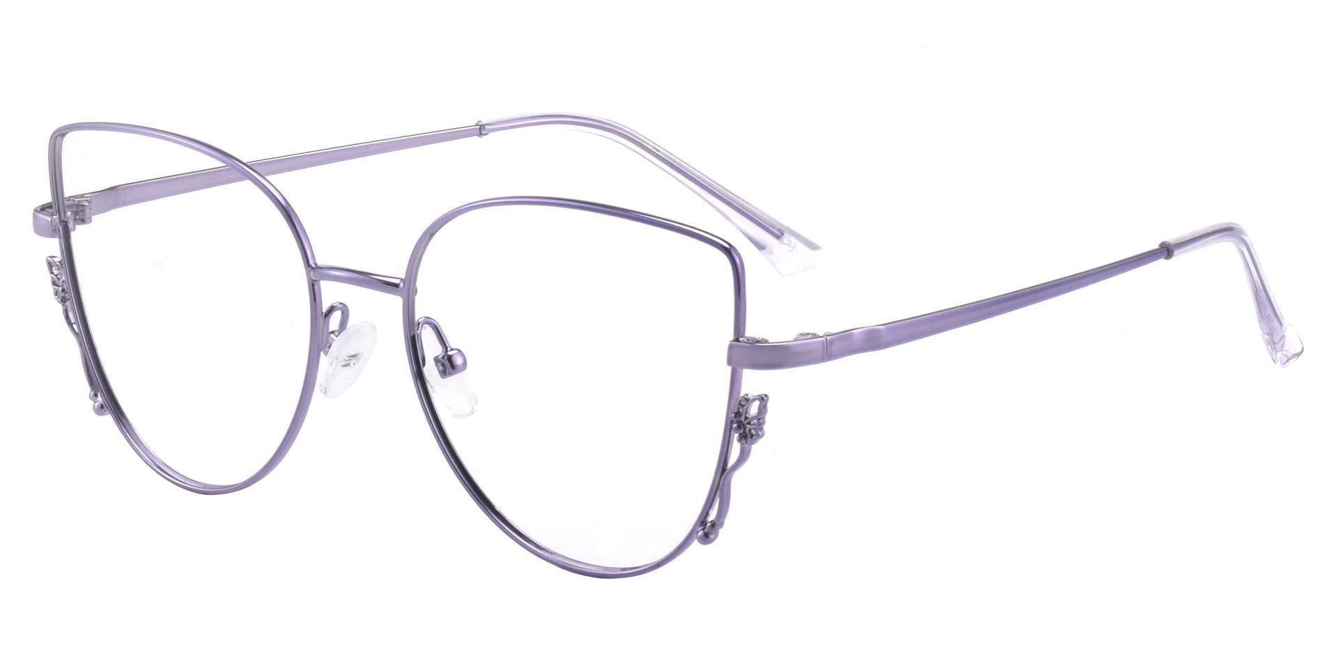 Fontella Cat Eye Prescription Glasses - Purple