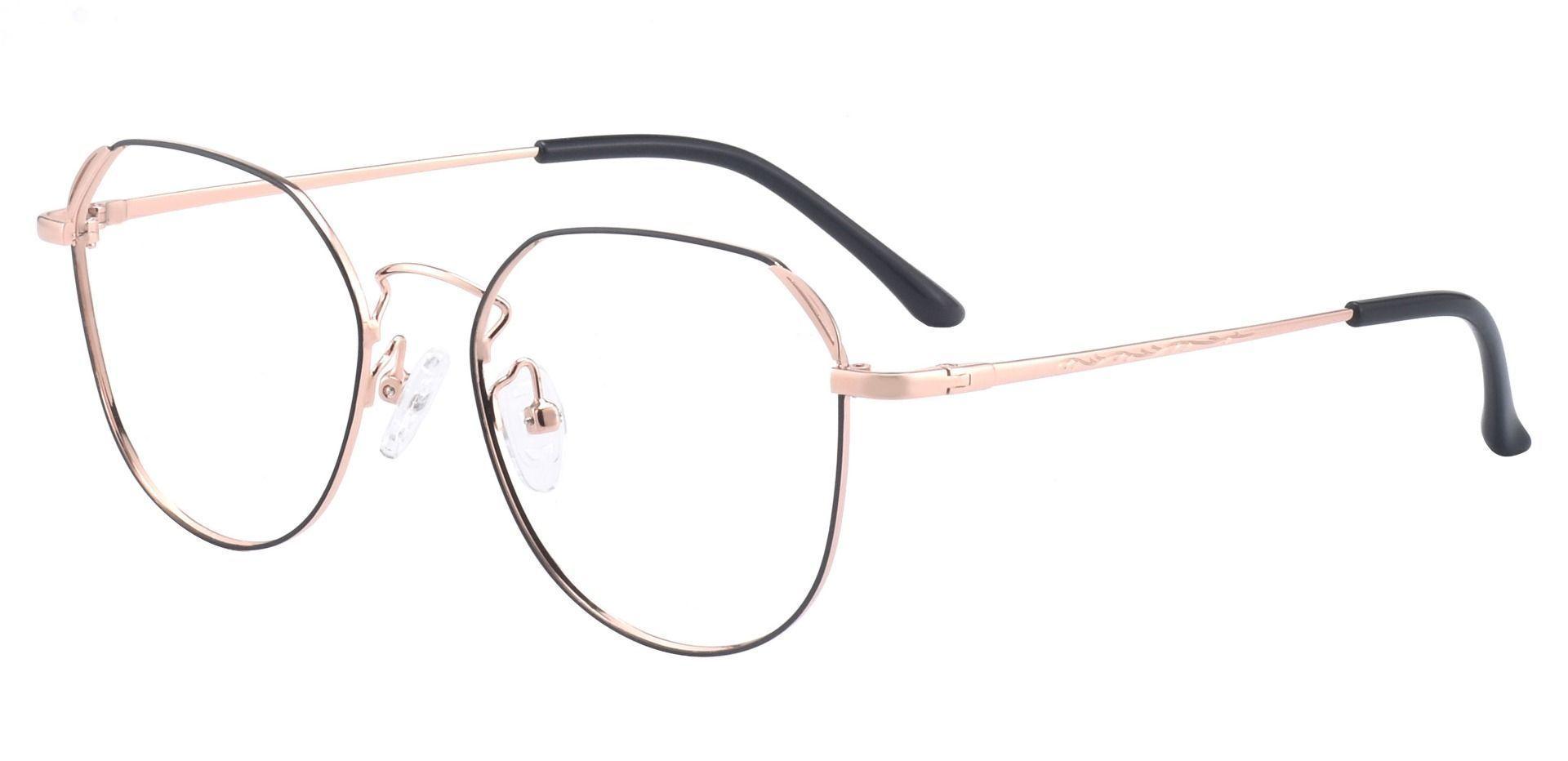 Figaro Geometric Prescription Glasses - Pink