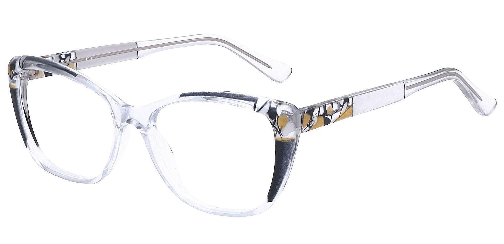 Marina Cat Eye Eyeglasses Frame - Black