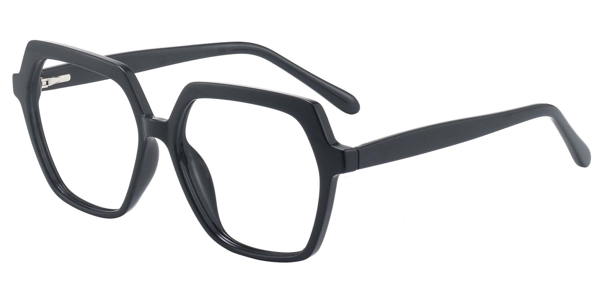 Regent Geometric Prescription Glasses - Black
