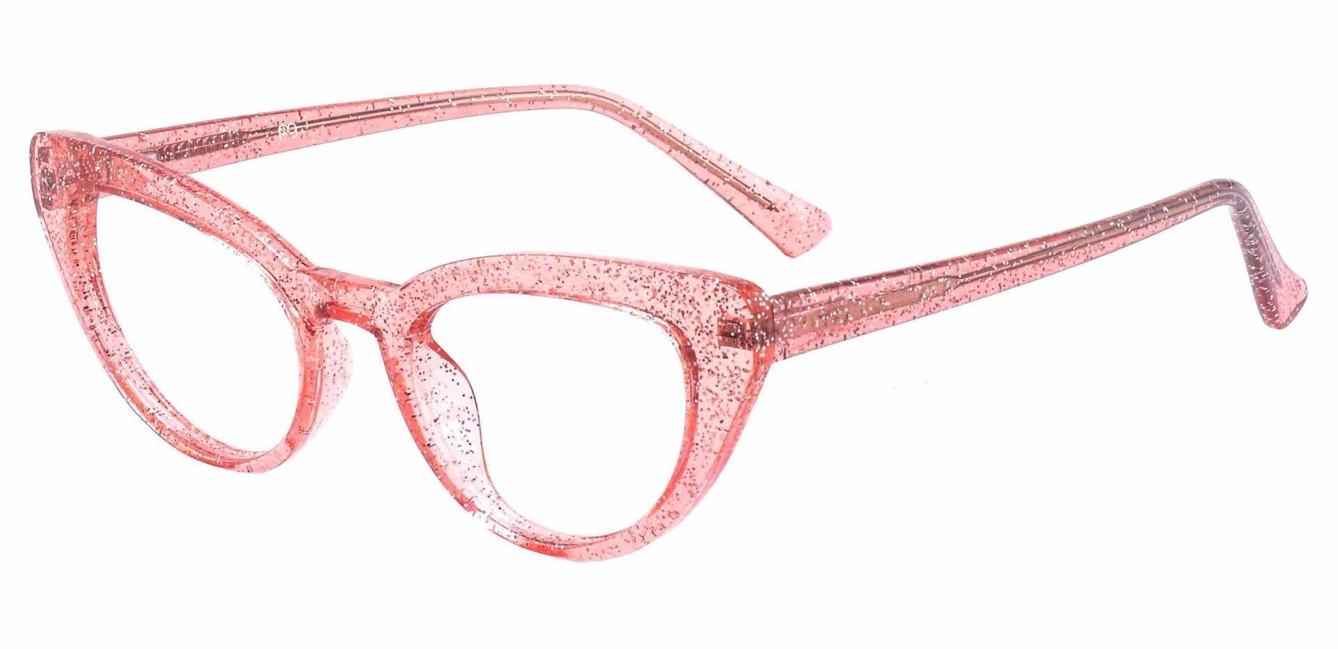 June Cat Eye Lined Bifocal Glasses - Pink