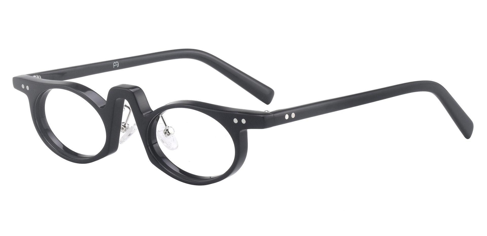 Hamlin Oval Single Vision Glasses - Black
