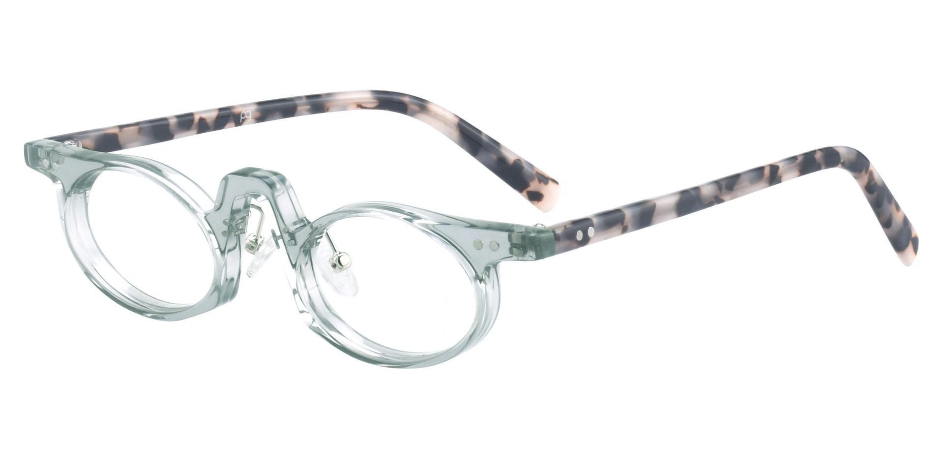 Hamlin Oval Single Vision Glasses - Gray